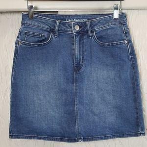 CALVIN KLEIN JEANS denim skirt size 4